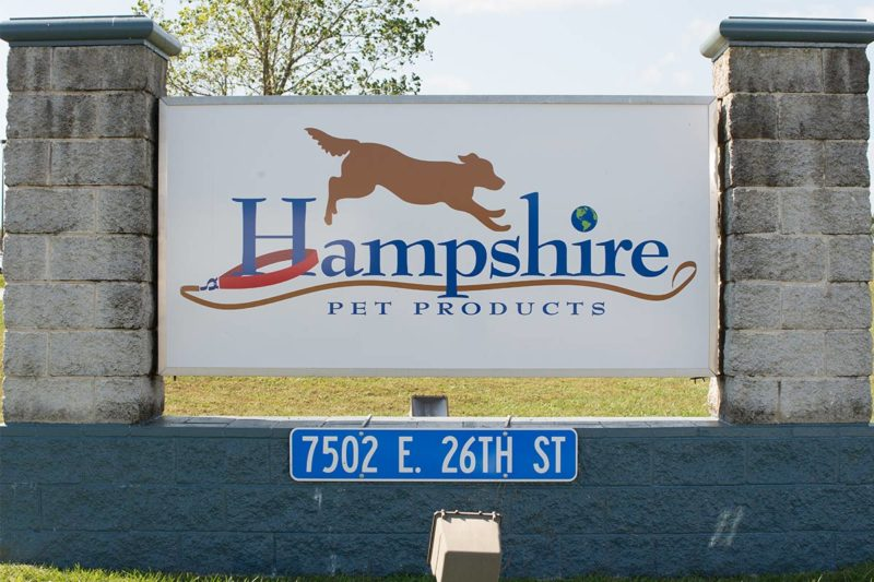 """Hampshire Pet Products often embraces the word """"yes"""" when approached by customers, a strategy that has allowed it to grow into what it is today. One hallmark of the company is its world record for the largest dog biscuit, weighing in at an impressive 617 lbs. The achievement came only two months after the south wall of Hampshire's processing facility was blown out in the Joplin tornado of May 2011."""