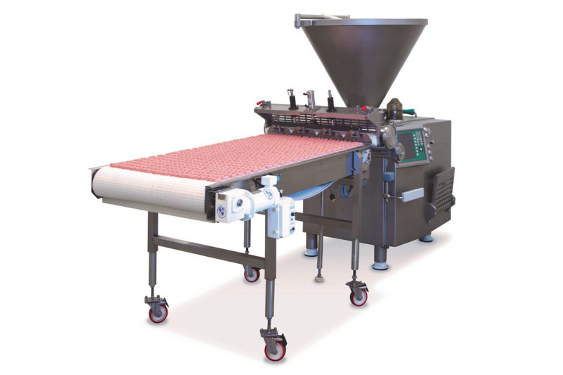 The versatile Vemag Pet Food Extruder from Reiser is your single solution for producing a wide variety of high-quality pet food treats. The Vemag provides the highest levels of product quality, portioning accuracy and production. It can efficiently extrude all types of pellets, meat sticks, jerky and treats with uniform thickness, width and length. Single-lane and multiple-lane options are available to meet any production requirement.