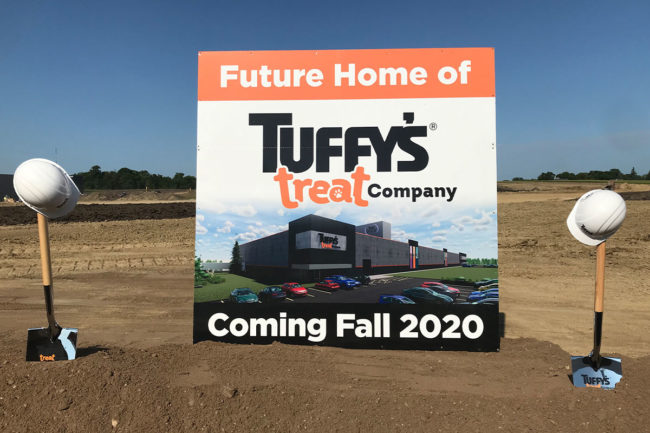 Tuffy's pet treat plant groundbreaking ceremony in Delano, Minnesota