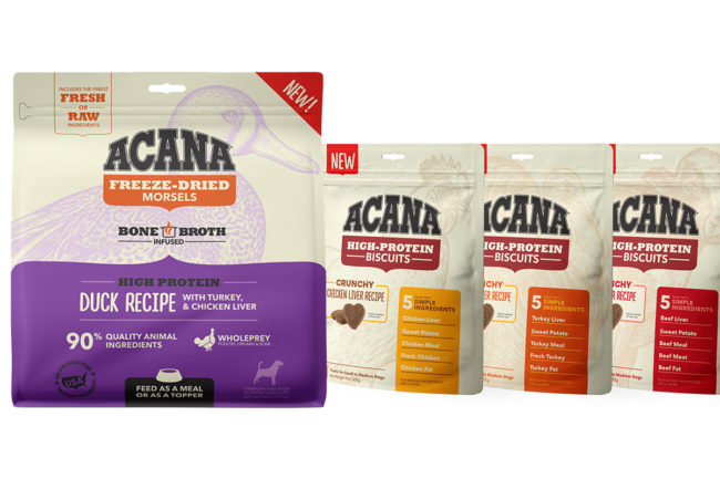 ACANA launches new dog food, treat products