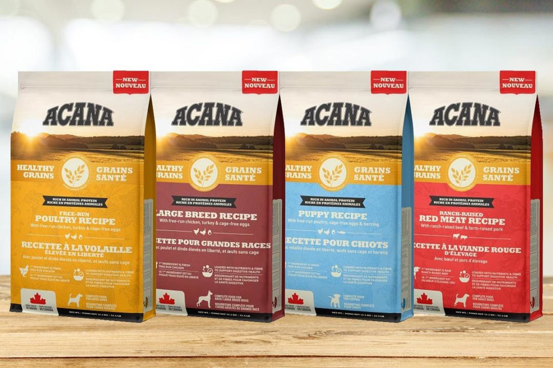 Champion adds grain-inclusive dog diets to ACANA line