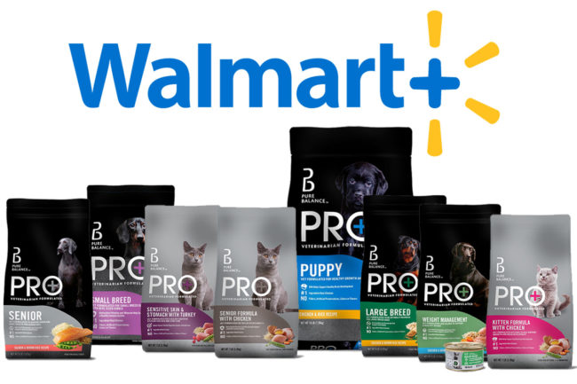 Walmart Pure Balance PRO+ dog and cat foods