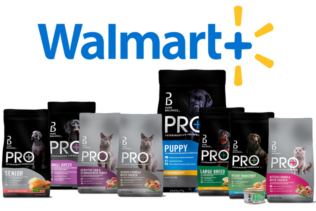 Walmart Pure Balance PRO+ dog and cat foods