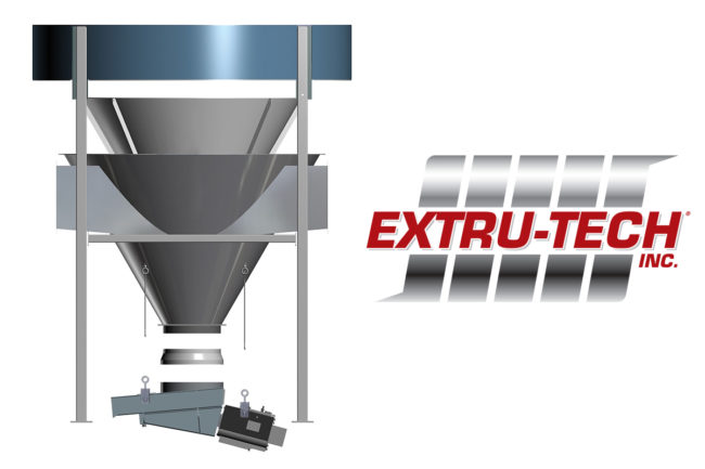 Extru-Tech offers upgraded sanitary cone option for vertical cooler