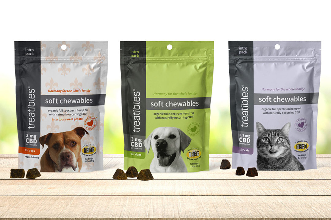 Treatibles to offer sample packs of CBD pet treats