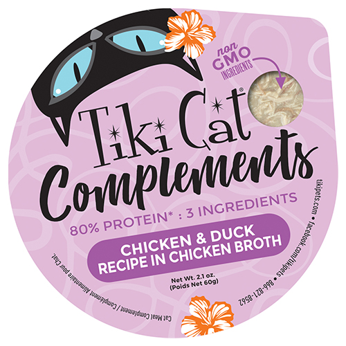 Individual packaging for Tiki Cat Complements