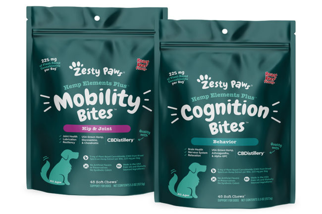 Zesty Paws adds Hemp Elements Plus dog supplements