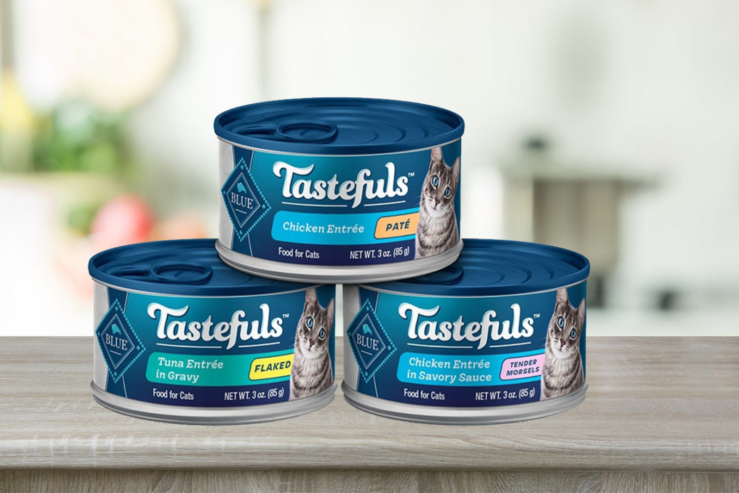 Blue Buffalo replacing Healthy Gourmet wet cat foods with new BLUE Tastefuls