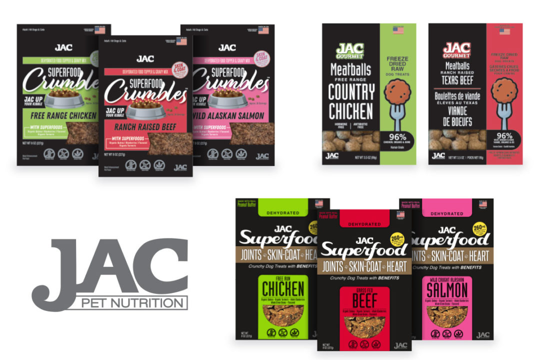 JAC Pet Nutrition enters North American pet market with two treats, one topper