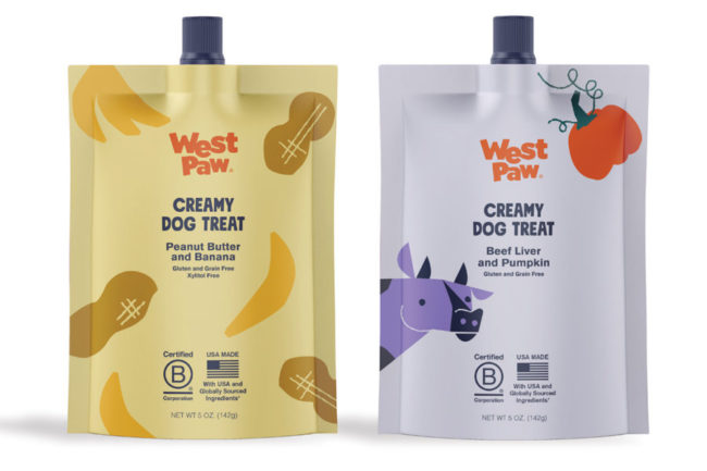 West Paw updates packaging for creamy dog treats