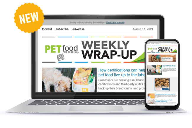 New weekly newsletter from Pet Food Processing