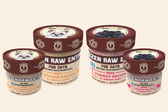 Boss Cat adds frozen raw diets for felines