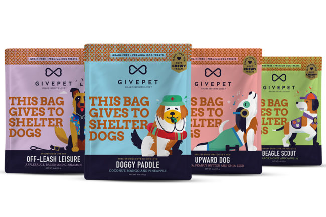 GivePet adds soft, chewy dog treats to the mix