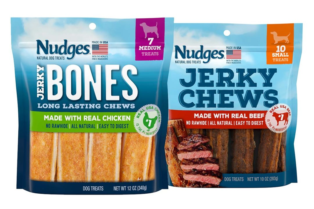 Nudges adds chewy and long-lasting jerky options to dog treat line