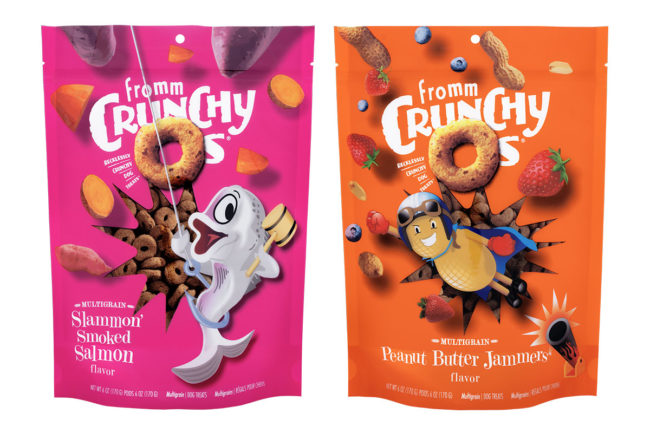 New peanut butter and salmon flavored dog treats by Fromm Family Foods