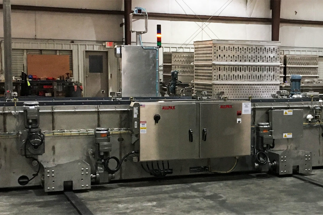 Allpax introduces telescoping automated batch retort systems for pet food processors