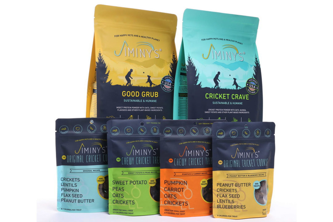 Jiminy's insect-based dog food and treats added to 800 Petco stores