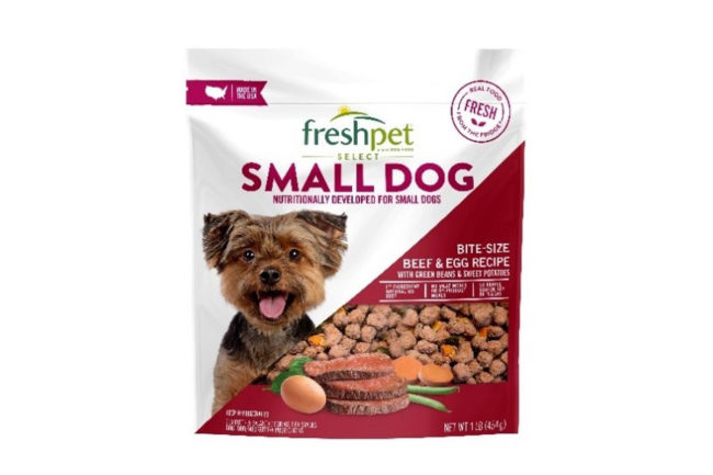 Freshpet recalls one lot of small dog food