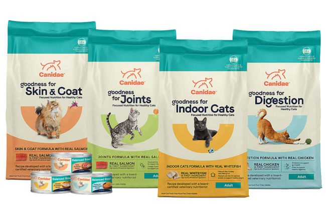 Canidae introduces Goodness functional kibbles and Balanced Bowl home-style wet diets for cats