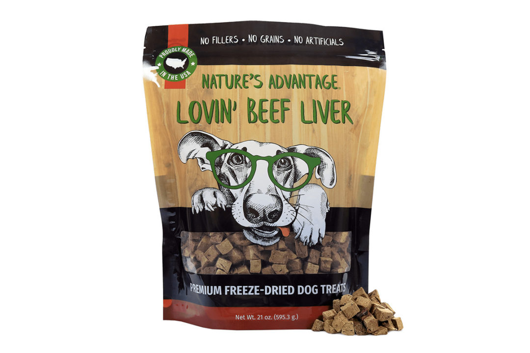Freeze-dried beef liver dog treats by Nature's Advantage