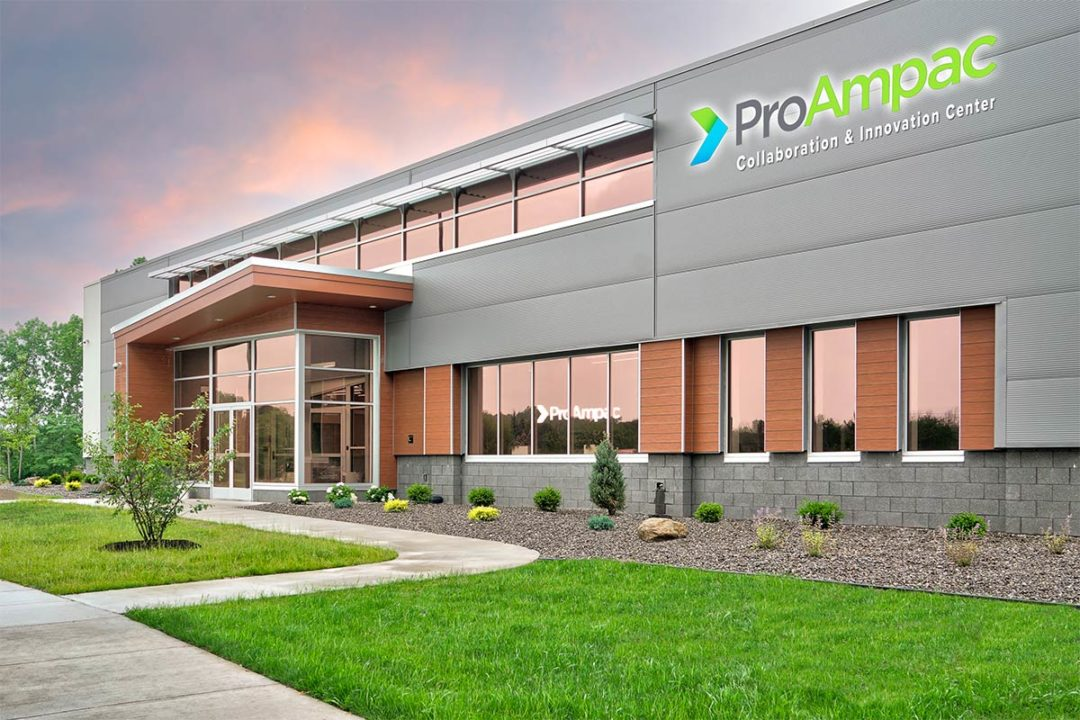 Digital rendering of ProAmpac's new Collaboration & Innovation Center in Rochester, New York