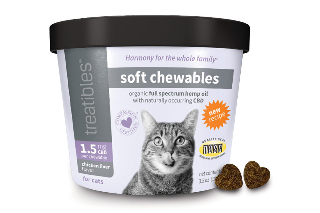 New packaging and formulation for Treatibles CBD Soft Chewables for Cats