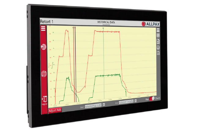 The new digital chart recorder from Allpax, shown here with historical data, displays input parameters clearly and understandably