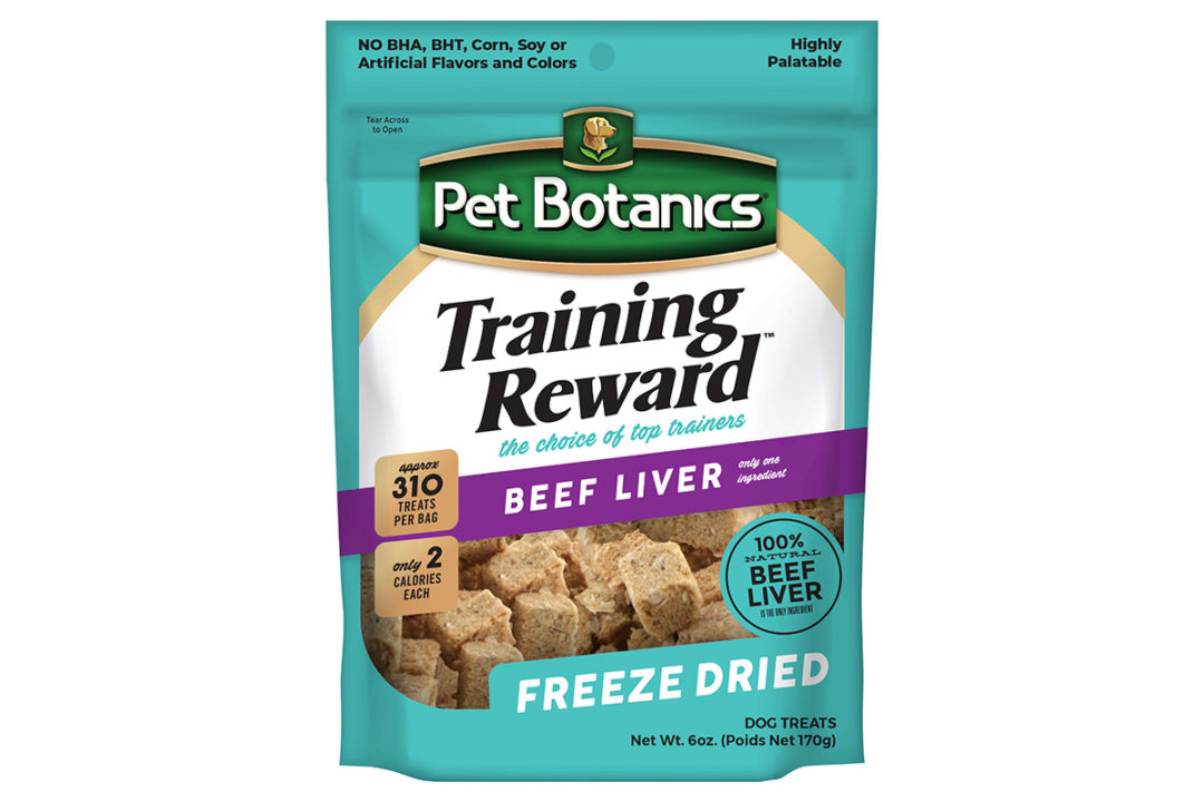New freeze-dried, single-ingredient training treat from Pet Botanics
