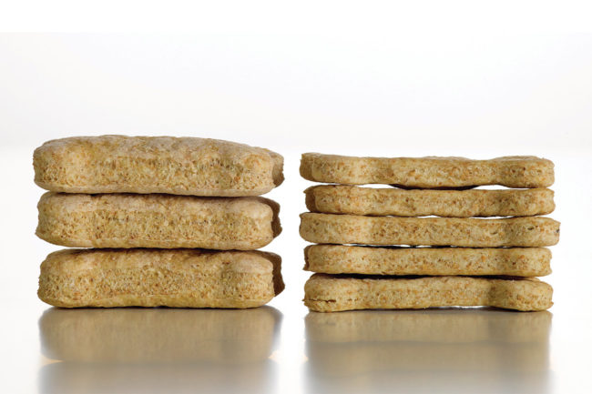 The effect of proper leavening in baked pet treats