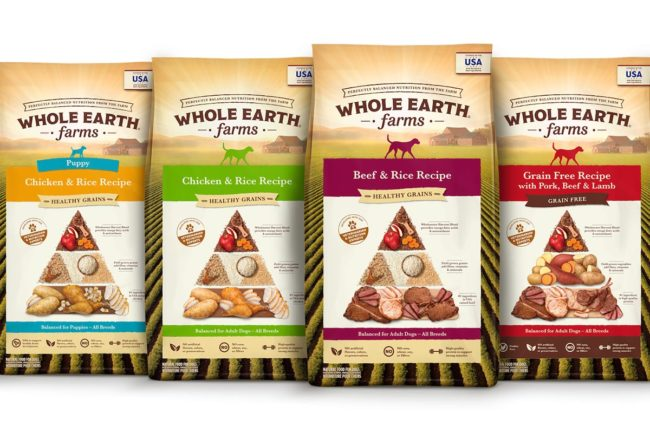 Whole Earth Farms reveals new dog food package designs
