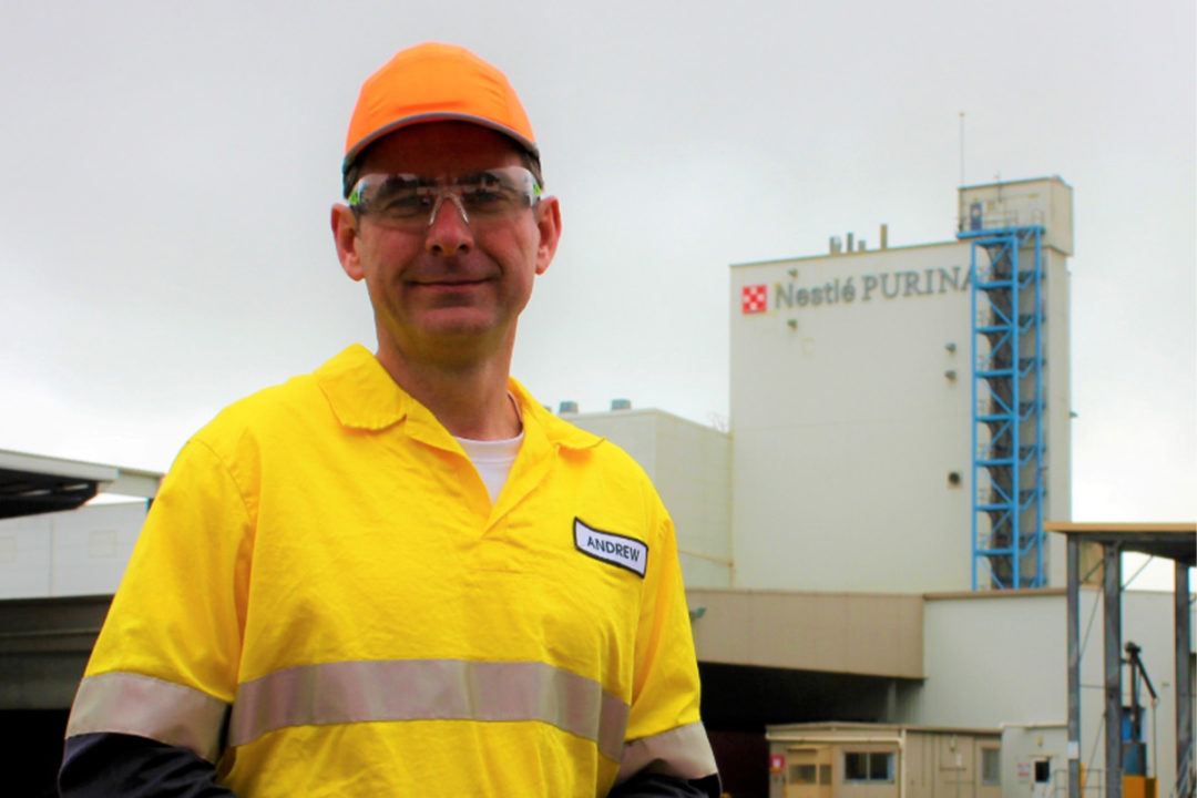 Andrew Devlin, factory manager of Purina's Blayney facility