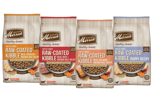 Merrick introduces new grain-inclusive, freeze-dried raw coated dry dog foods