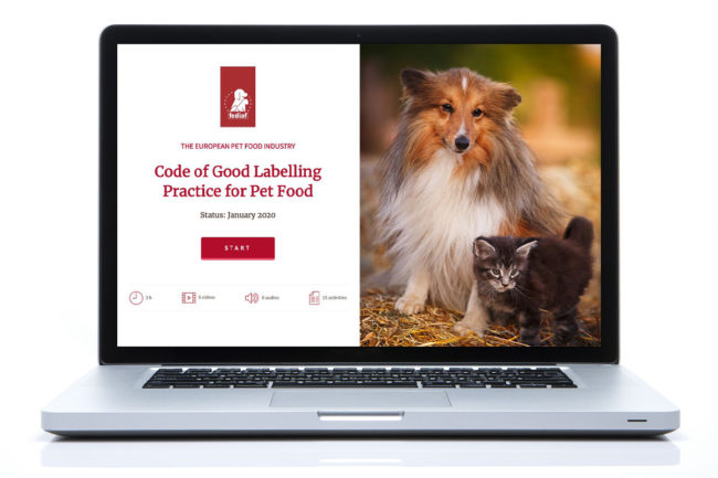 FEDIAF launches e-learning tool for pet food labeling regulations