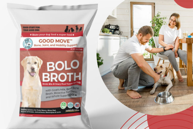 Dog is Good BOLO Broth meal topper for dogs