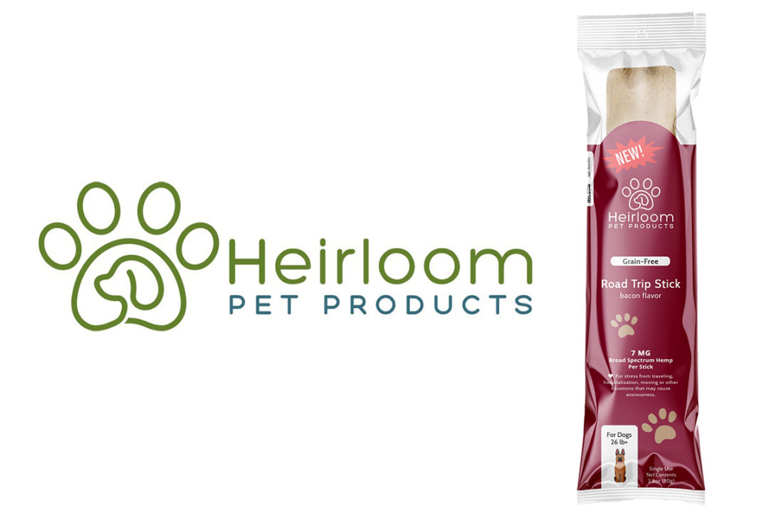 Hemp-infused, on-the-go stress relief for dogs by Heirloom Pets