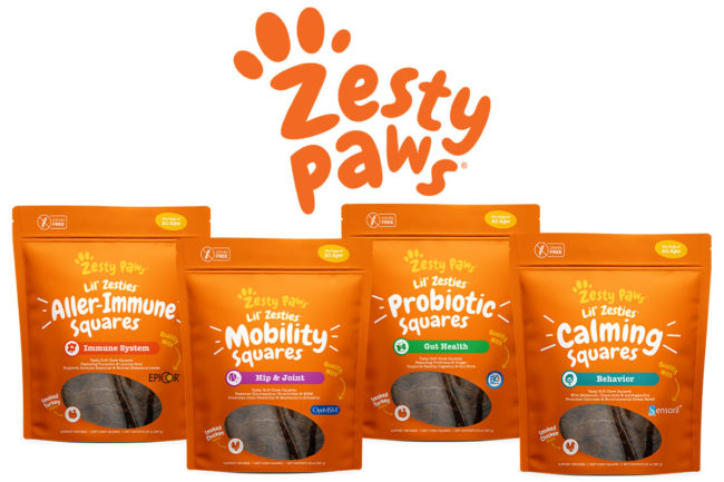 Zesty Paws introduces four new functional dog supplement formulas