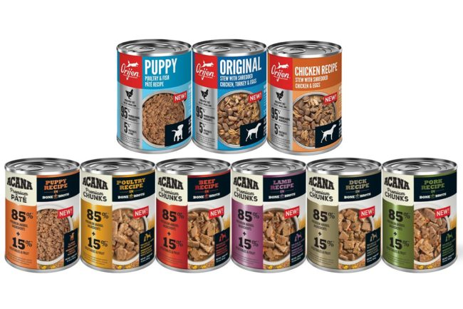 Champion introduces new ACANA and ORIJEN wet dog foods in Canadian market