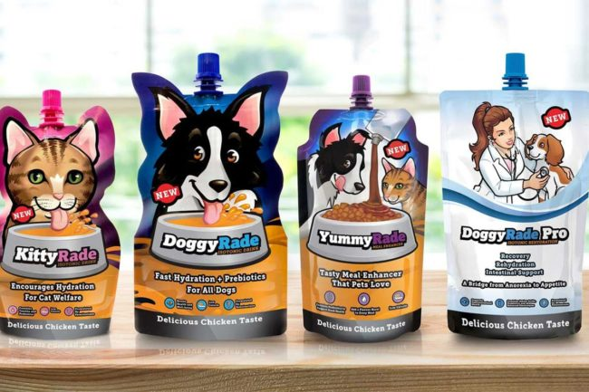 DoggyRade and KittyRade new hydration supplements for dogs and cats