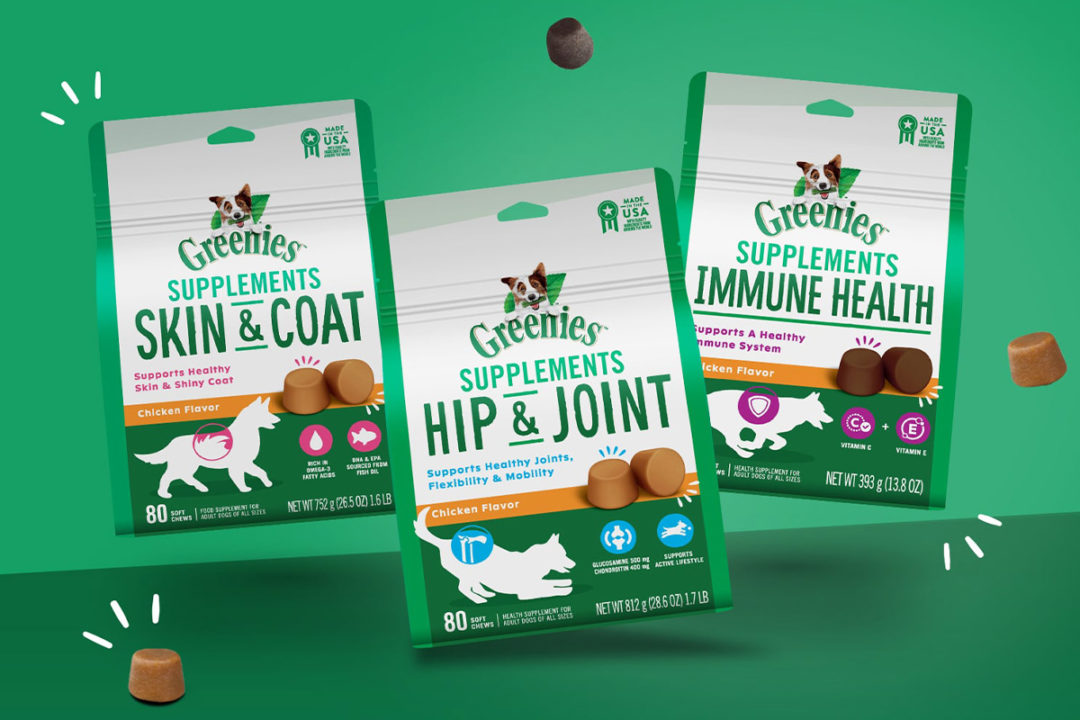 Greenies enters pet supplement category with functional soft chews for dogs