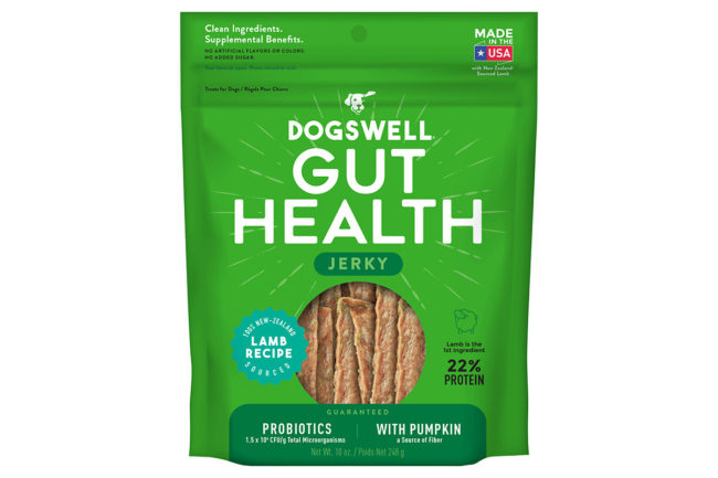 Dogswell launches digestive health jerky treat for dogs