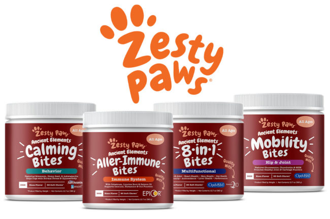 Zesty Paws launches Ancient Elements functional supplements for dogs