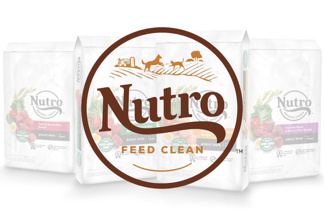 Nutro rebranding dog food packaging