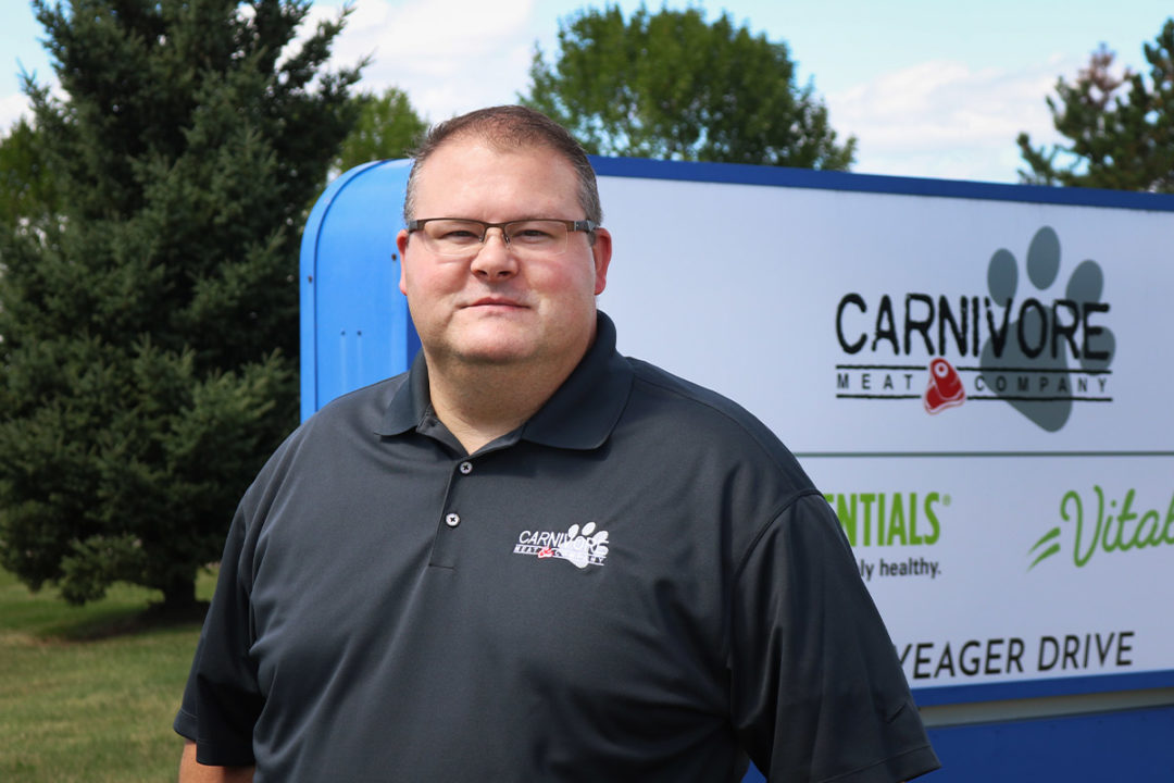 Jeremy Gesicki, senior manager of e-commerce at Carnivore Meat Company.