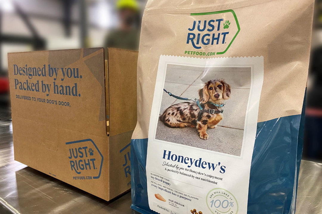 Dog owners can customize their kibble through Just Right Pet Food