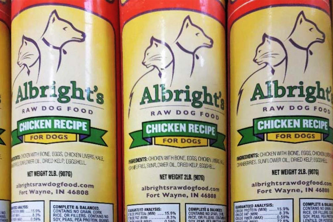 Albright's recalls raw dog food for possible Salmonella