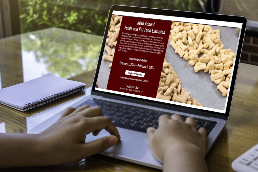 Texas A&M University to host virtual course on feed and pet food extrusion