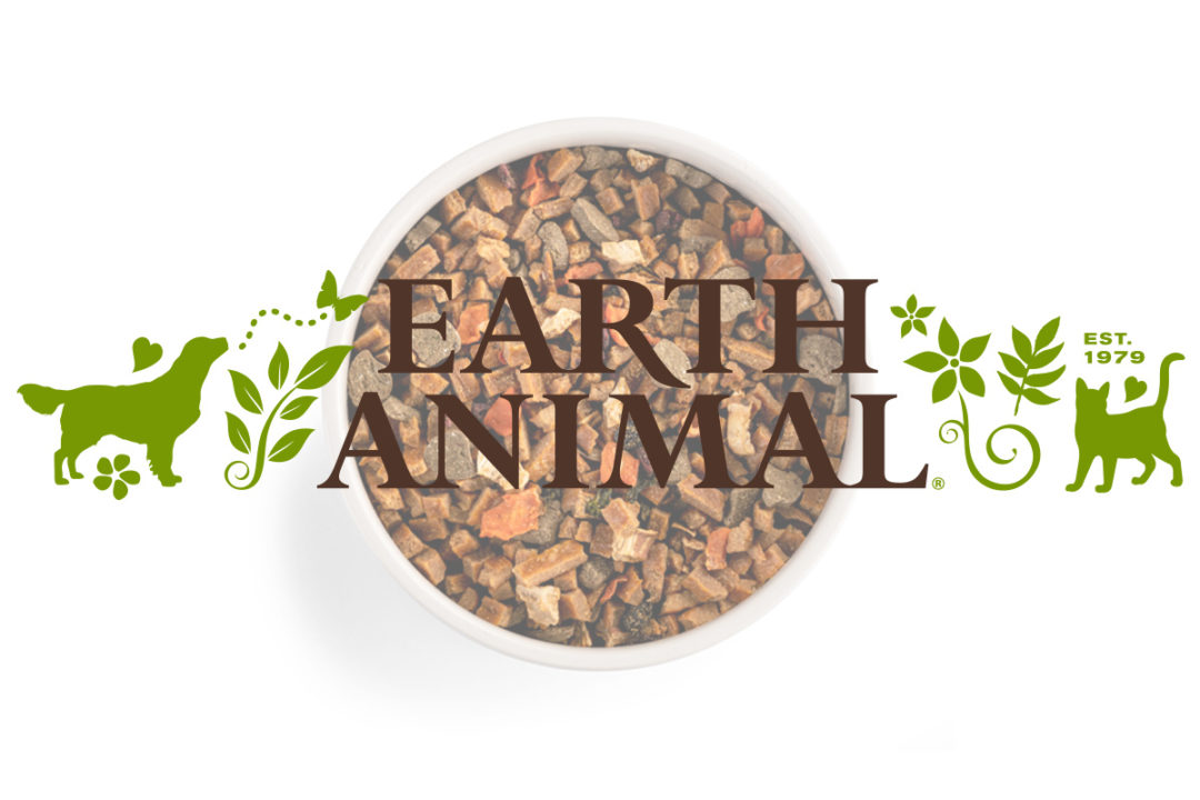 Earth Animal dog food packaging offers environmental benefits