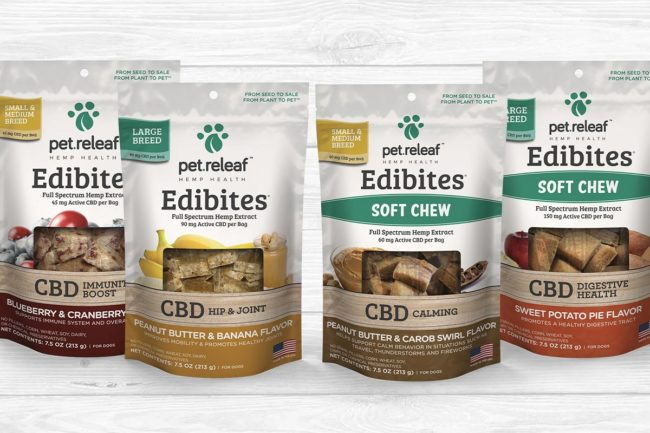 Reformulated Edibites CBD dog treats from Pet Releaf