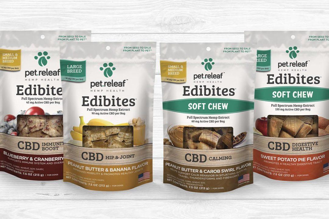 Reformulated Edibites CBD dog treats from Pet Releaf