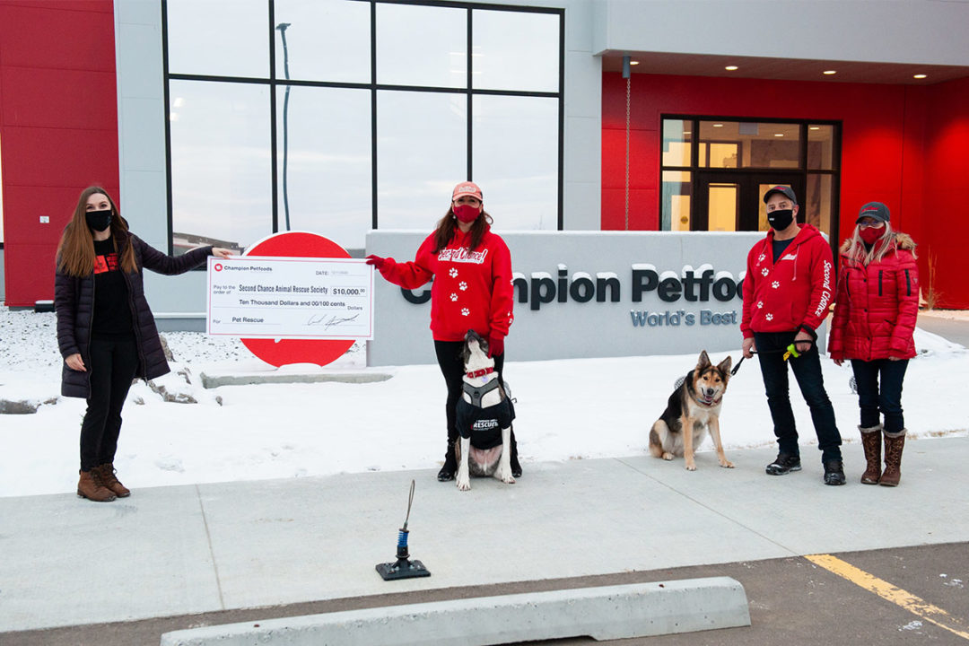 Champion Petfoods donates pet food to North American shelters ahead of the holidays